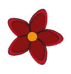 single red flower icon image vector image