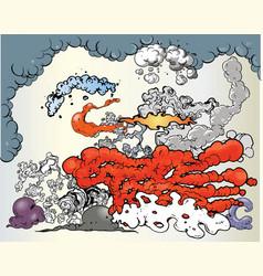 smoke clouds vector image