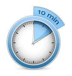 Timer - 10 minutes vector image vector image