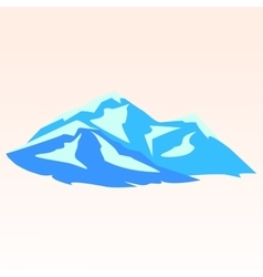 Blue mountains Symbolic image vector image vector image