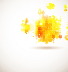 Bright and sunny page layout for your presentation vector image