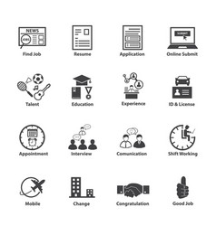 business employment icons set vector image