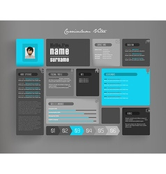 Creative curriculum vitae template with tiles vector image vector image
