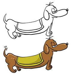 evil dachshund vector image vector image