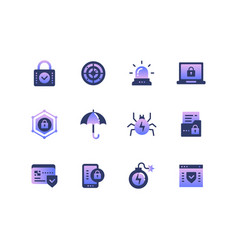 information security data protection - set of vector image