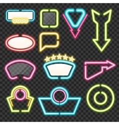 Neon sign set vector