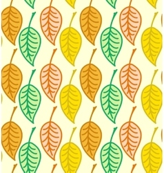 Warm colored seamless autumn leaves pattern vector image vector image