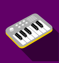 electronic piano icon flat style vector image