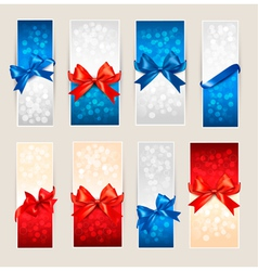 Gift card backgrounds vector image vector image