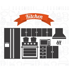 kitchen concept vector image vector image