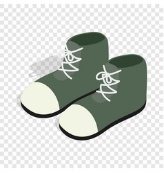 pair of green boots isometric icon vector image
