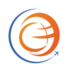 travel and tourism logo design vector image vector image