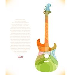 Abstract guitar design vector
