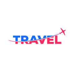 Airplane slice travel logo modern and clean symbol vector