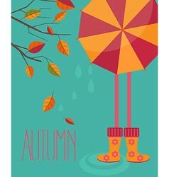 autumn season in flat style vector image