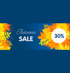 autumn start sale concept banner flat style vector image