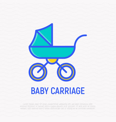 bacarriage thin line icon vector image
