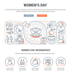 Banner womens day vector