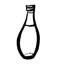Bottle doodle hand drawn vector