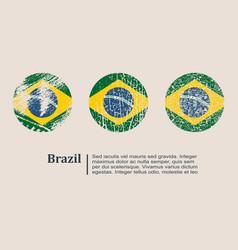 brazil flag design concept vector image