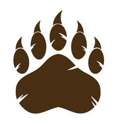 Brown bear paw with claw vector