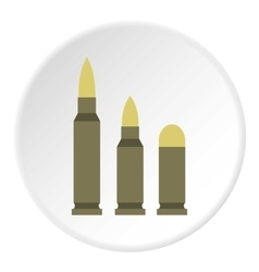 Bullets icon flat style vector image
