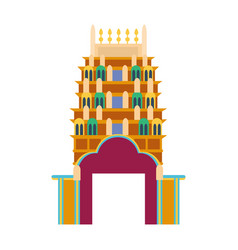 cathedral churche tibetan temple building landmark vector image