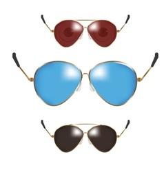 Classic men police sunglasses vector image
