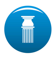 Classical column icon blue vector