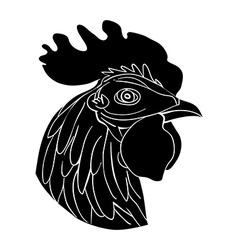 Cockerel avatar vector
