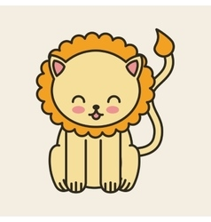 Cute lion tender isolated icon vector