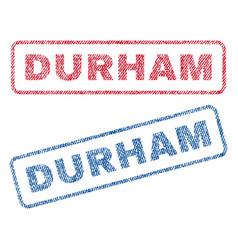 Durham textile stamps vector