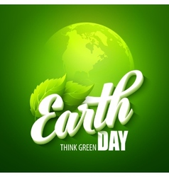 Earth day with words vector