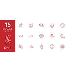 earth icons vector image