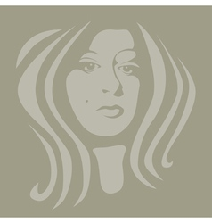Female graphic vector image