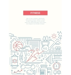 Fitness - line design composition vector