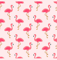 flamingo seamless pattern exotic hawaii art vector image
