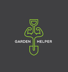 garden helper logo vector image