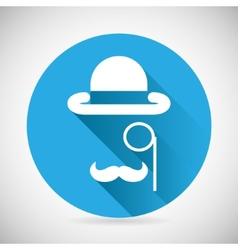 Gentleman Accessories Symbol Bowler Hat Monocle vector image