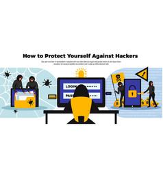 hacker background ilustration vector image