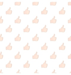 Hand with thumb up pattern cartoon style vector