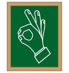 Human hands doing a symbol vector