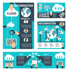 Infographic cloud technologies vector