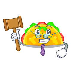 Judge omelatte fried isolated on the mascot vector