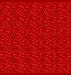 knit red pattern vector image