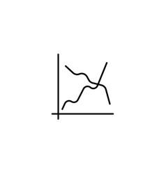 Line graph icon sign design vector