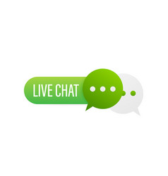 live chat speech bubbles concept stock vector image