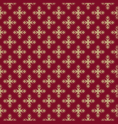 luxury ornamental background red and gold vector image