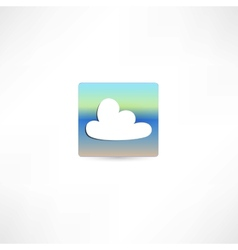 One white cloud vector image