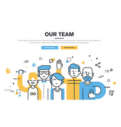 our team vector image